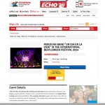 Event listed on Liverpool Echo – What's On, peruvian band