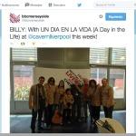 Tweet about the peruvian band on BBC Radio Merseyside Twitter