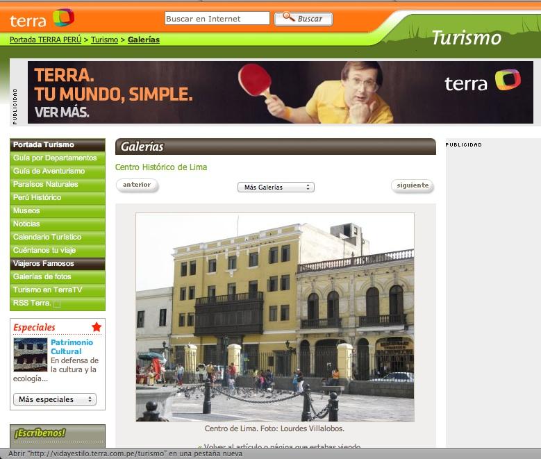 Famous peruvian travelers Terra Peru tourism site
